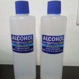 Alcohol antiséptico x 4 unidades