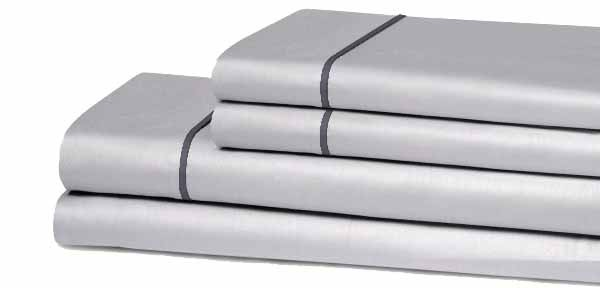 Juego de sábanas microfibra gris plata sencillo