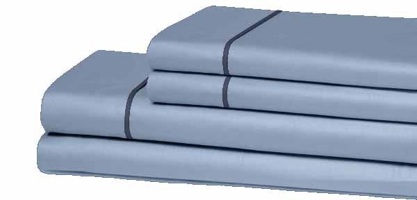 Juego de sábanas microfibra azul doble