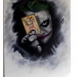 Obra decorativa fan art del joker